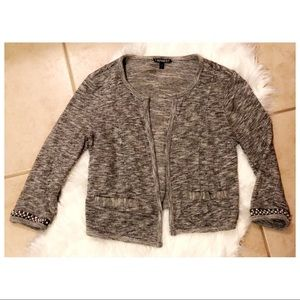 Express Cardigan with Jeweled Sleeves, Size S